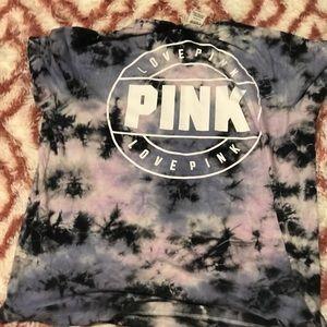 Pink vs tie dye tee